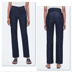 Eileen Fisher High Waisted Dark Wash Straight Jean